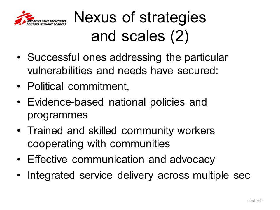 Nexus of strategies and scales (2)