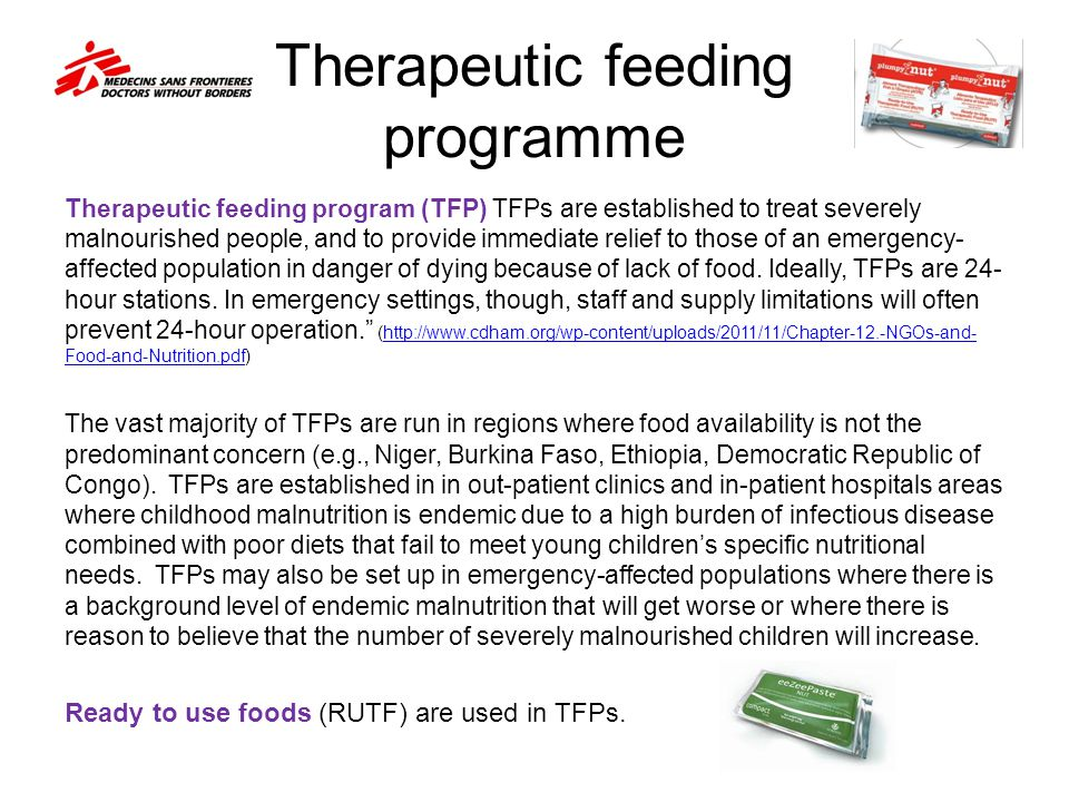 Therapeutic feeding programme