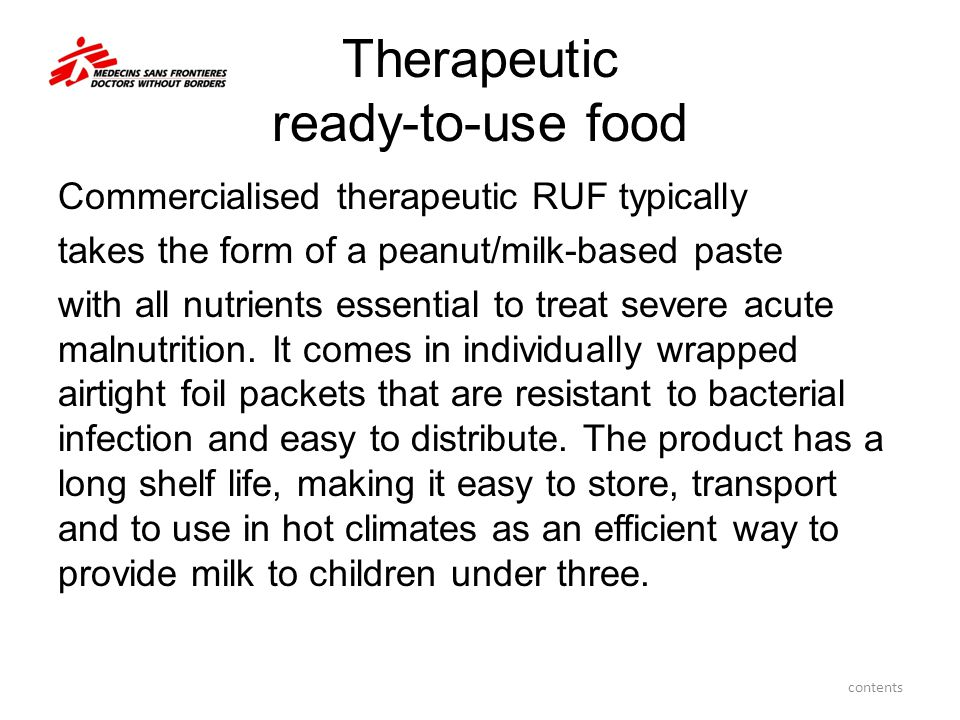 Therapeutic ready-to-use food