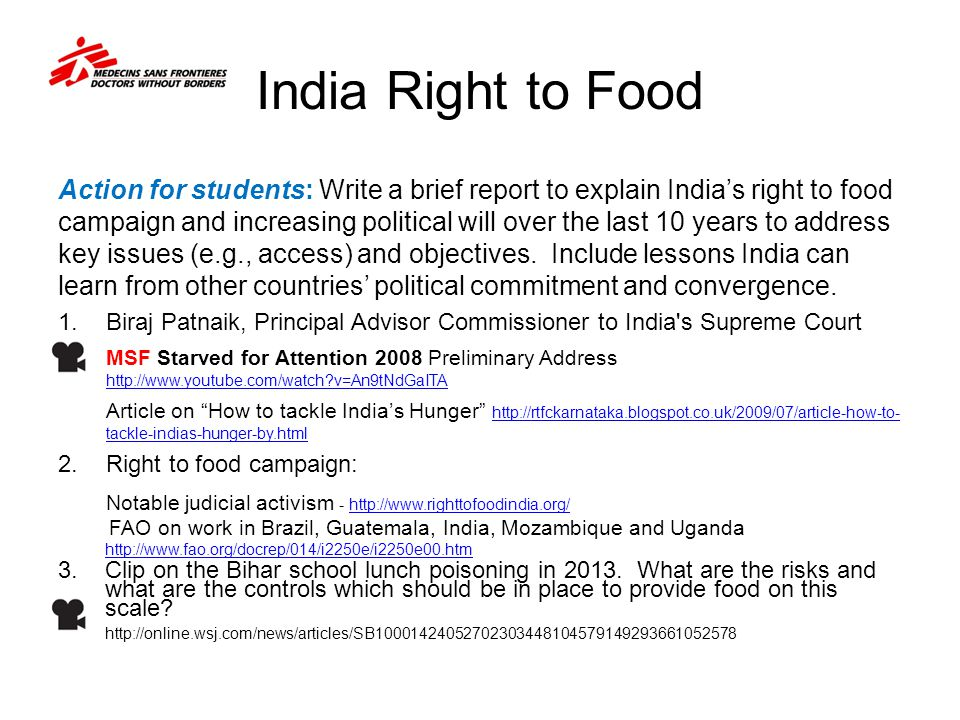 India Right to Food
