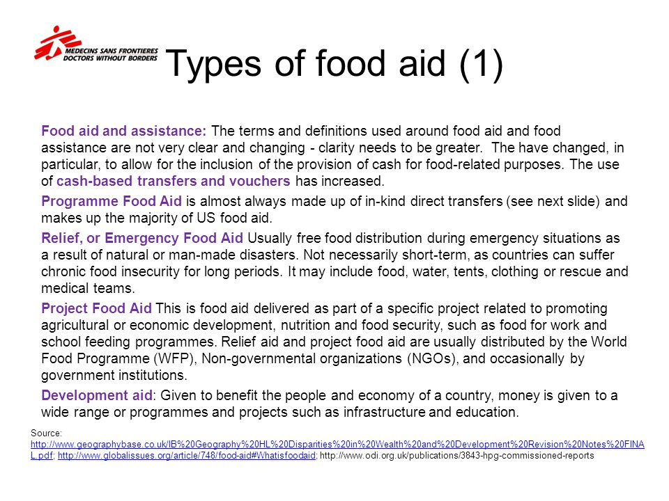 Types of food aid (1)