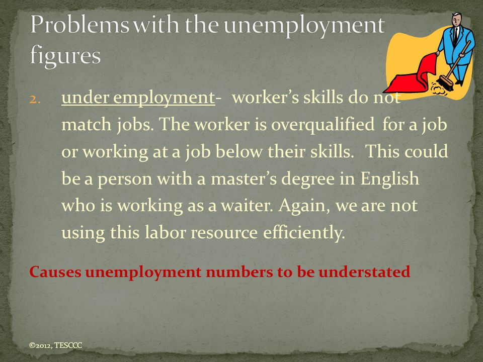 Problems with the unemployment figures