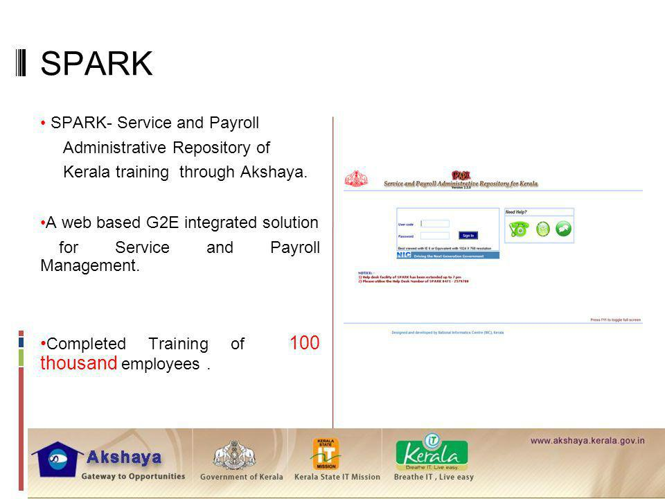 SPARK SPARK- Service and Payroll Administrative Repository of