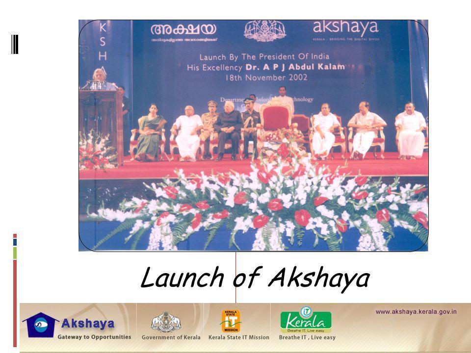 Launch of Akshaya
