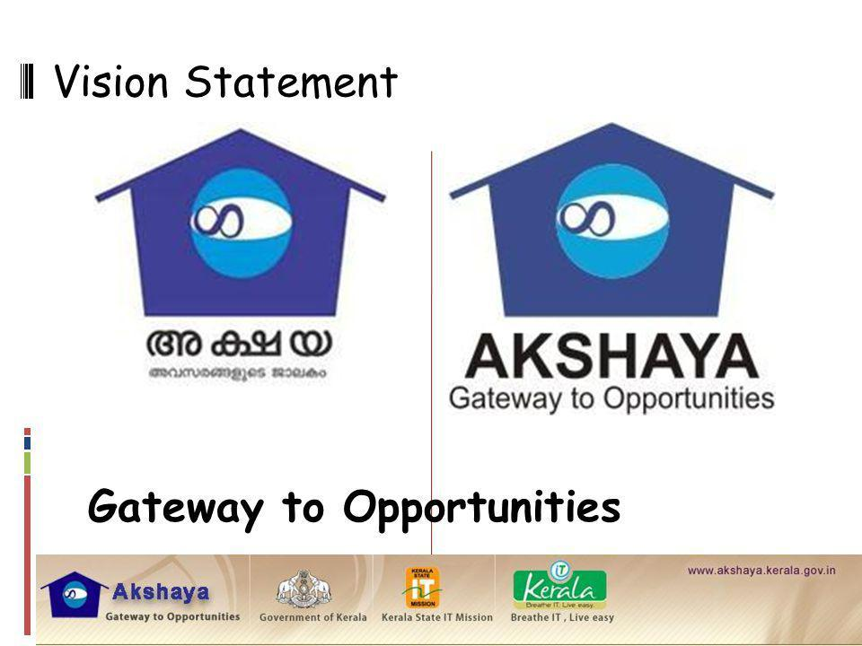 Vision Statement Gateway to Opportunities