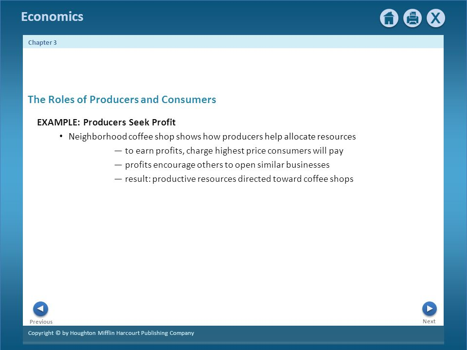 The Roles of Producers and Consumers