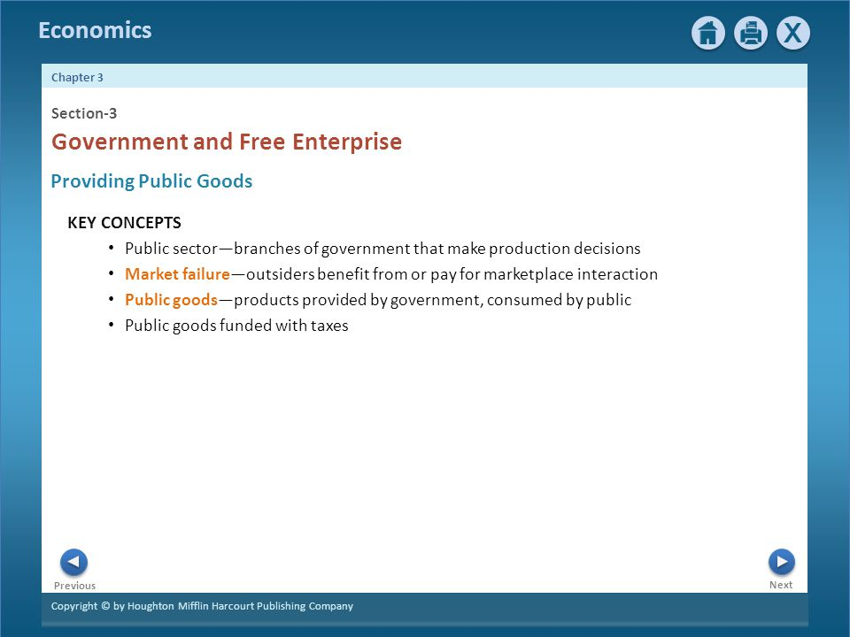Government and Free Enterprise