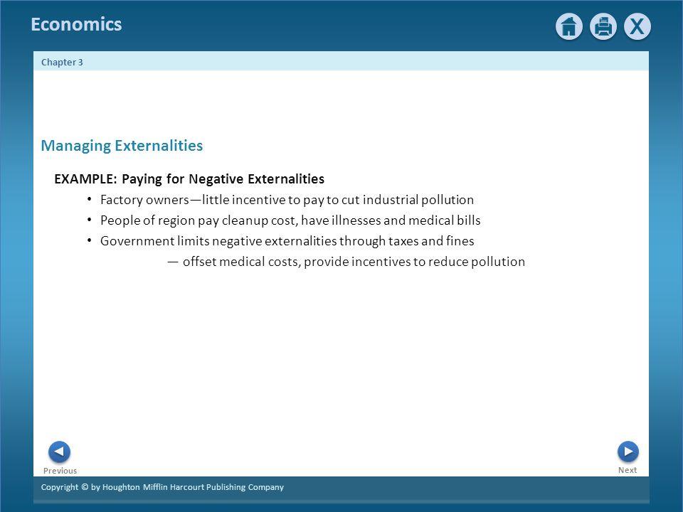 Managing Externalities