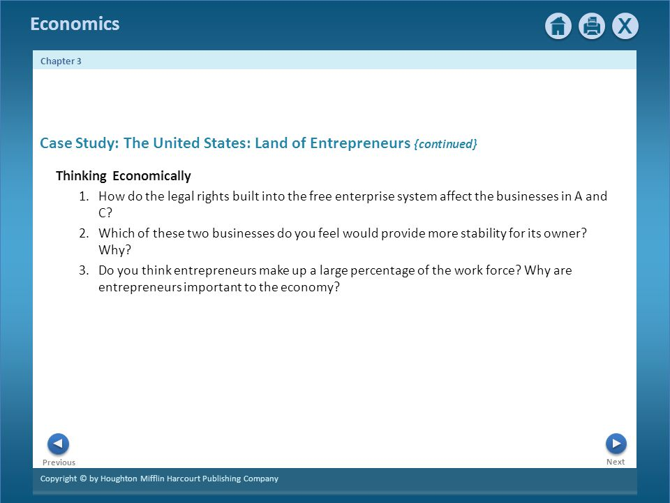 Case Study: The United States: Land of Entrepreneurs {continued}
