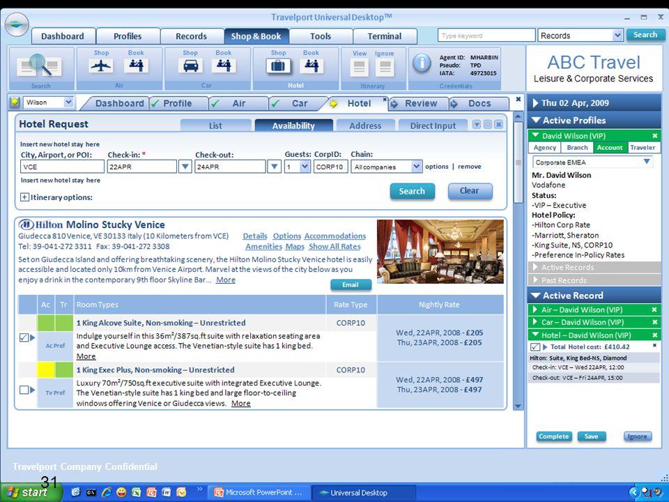 Travelport Company Confidential