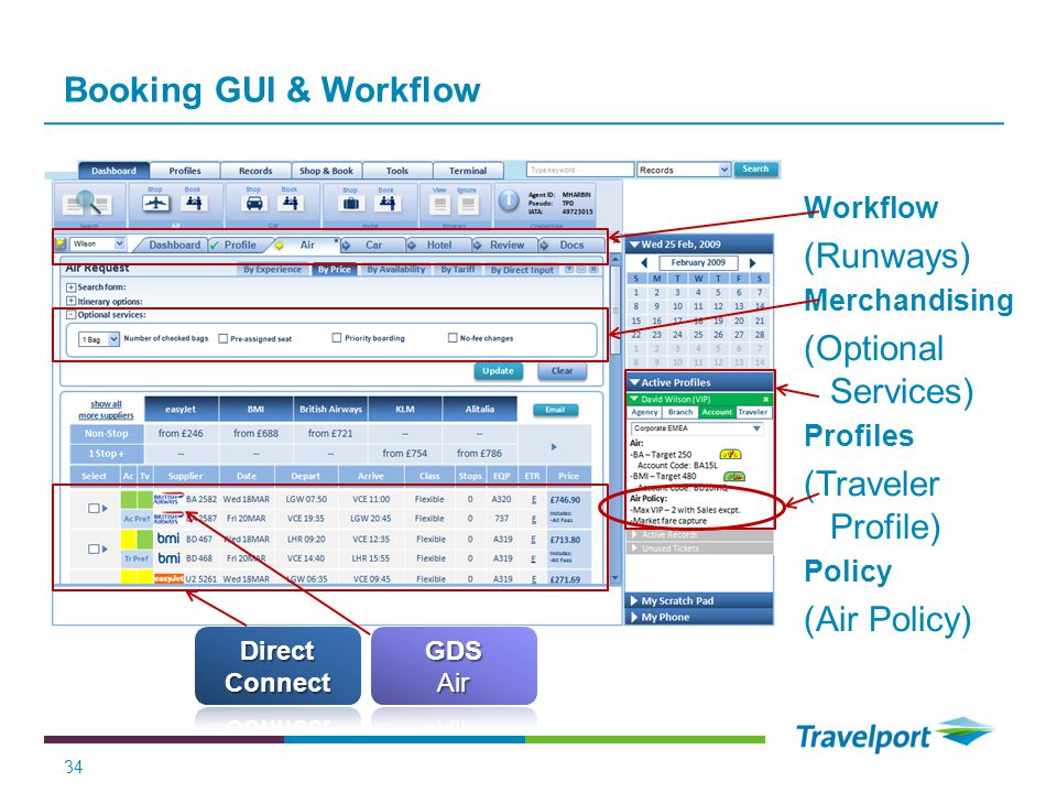 Booking GUI & Workflow (Runways) (Optional Services)
