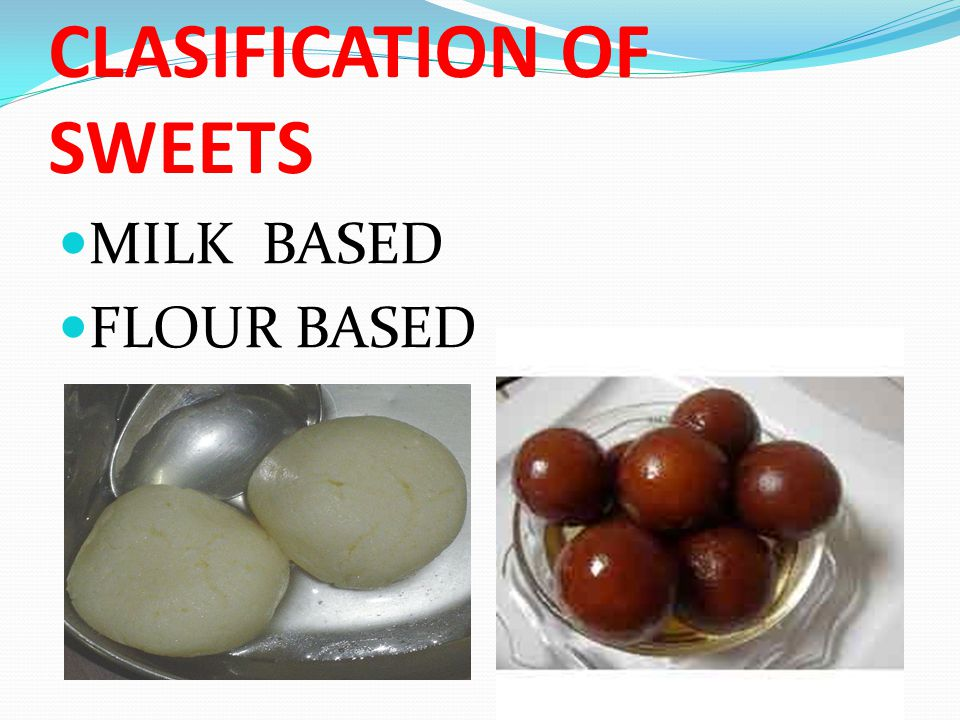 CLASIFICATION OF SWEETS