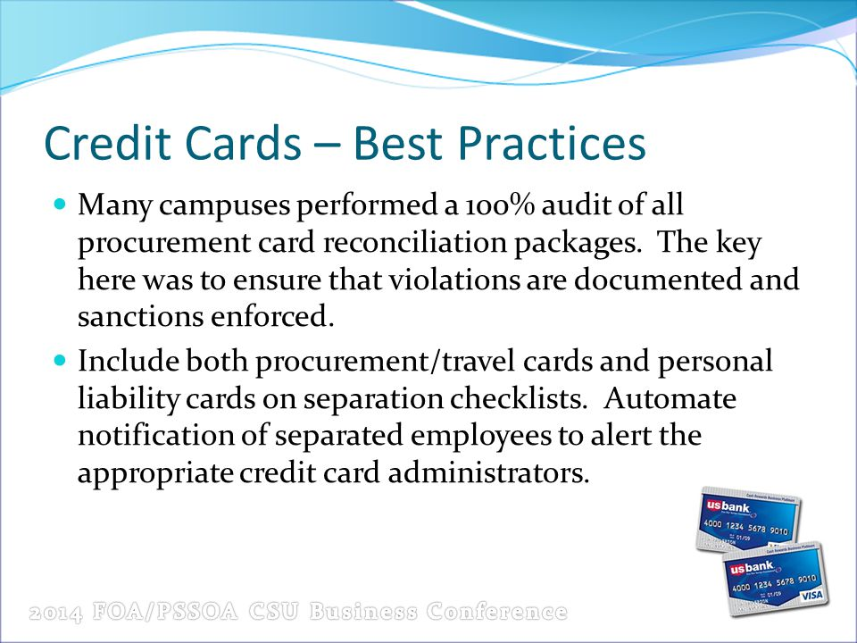 Credit Cards – Best Practices