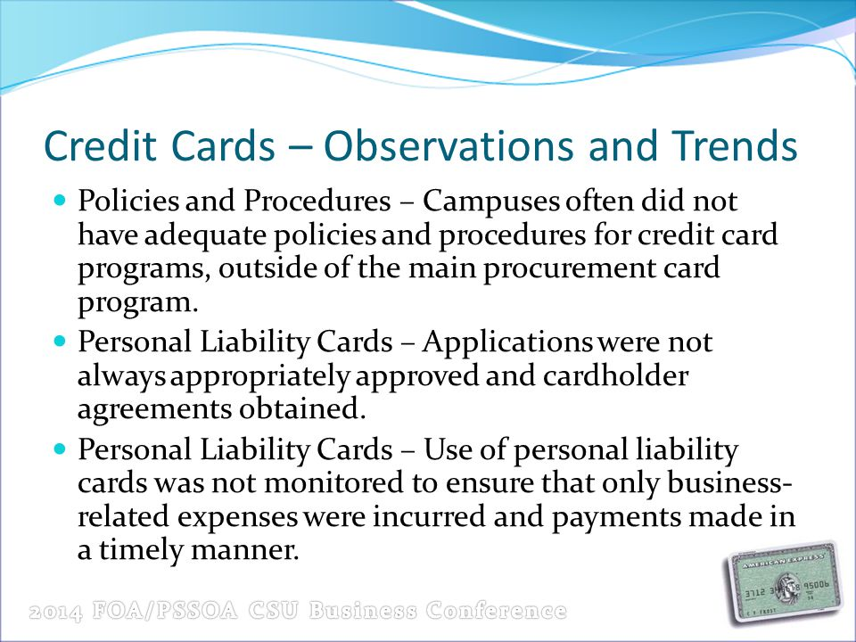Credit Cards – Observations and Trends
