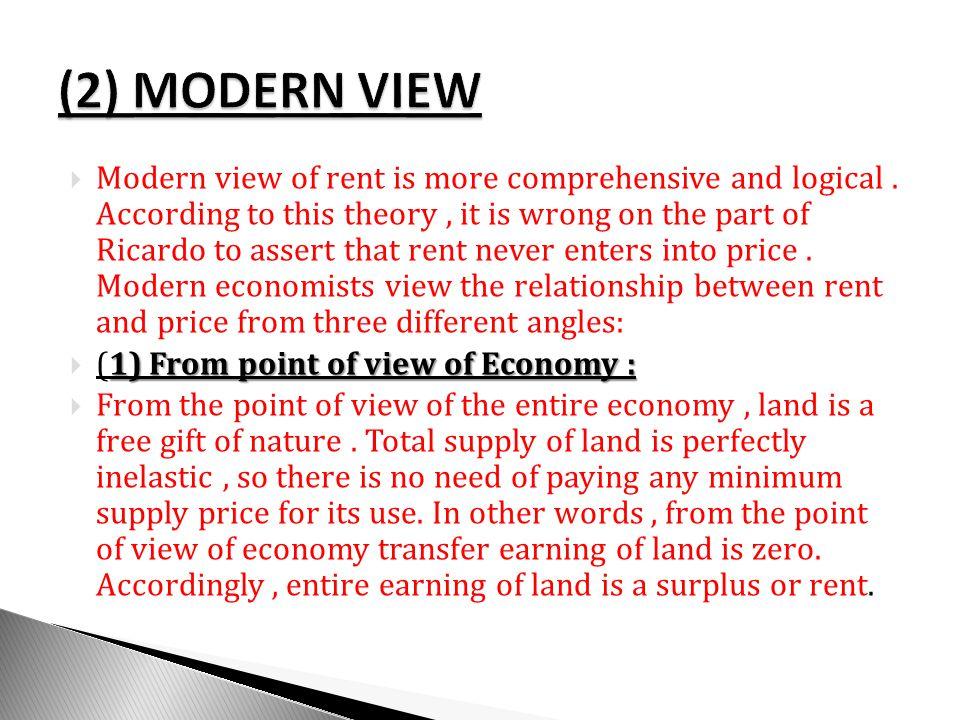 (2) MODERN VIEW