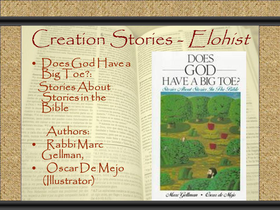 Creation Stories - Elohist