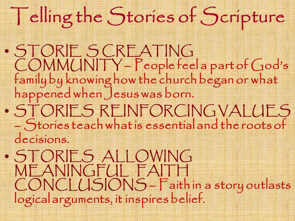 Telling the Stories of Scripture