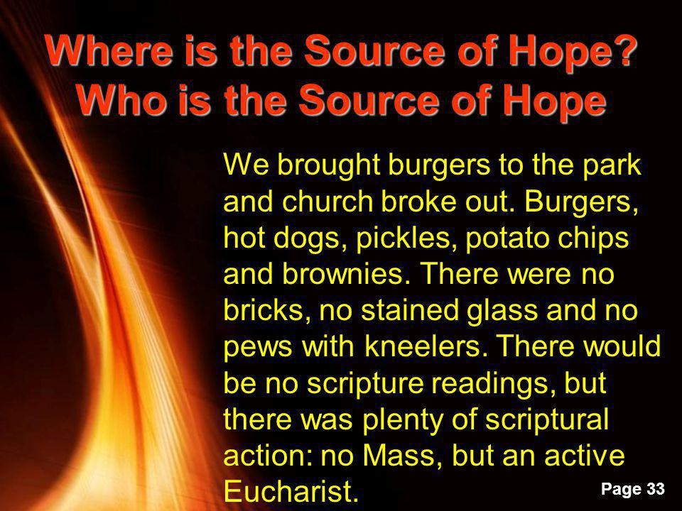 Where is the Source of Hope Who is the Source of Hope