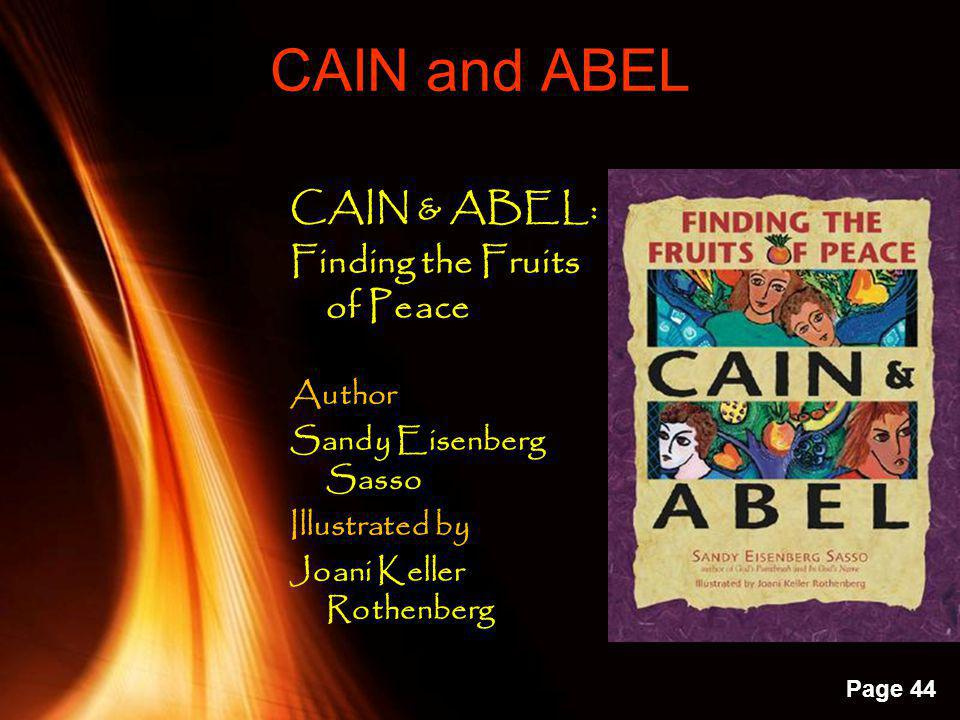 CAIN and ABEL CAIN & ABEL: Finding the Fruits of Peace Author