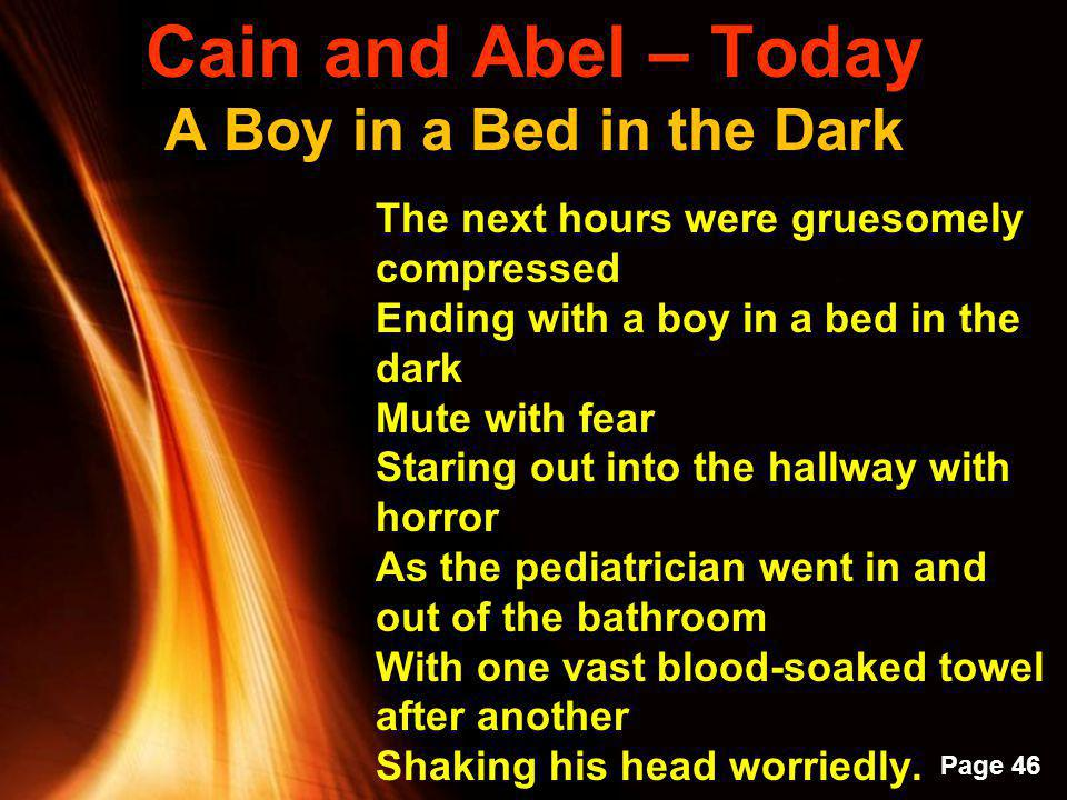 Cain and Abel – Today A Boy in a Bed in the Dark