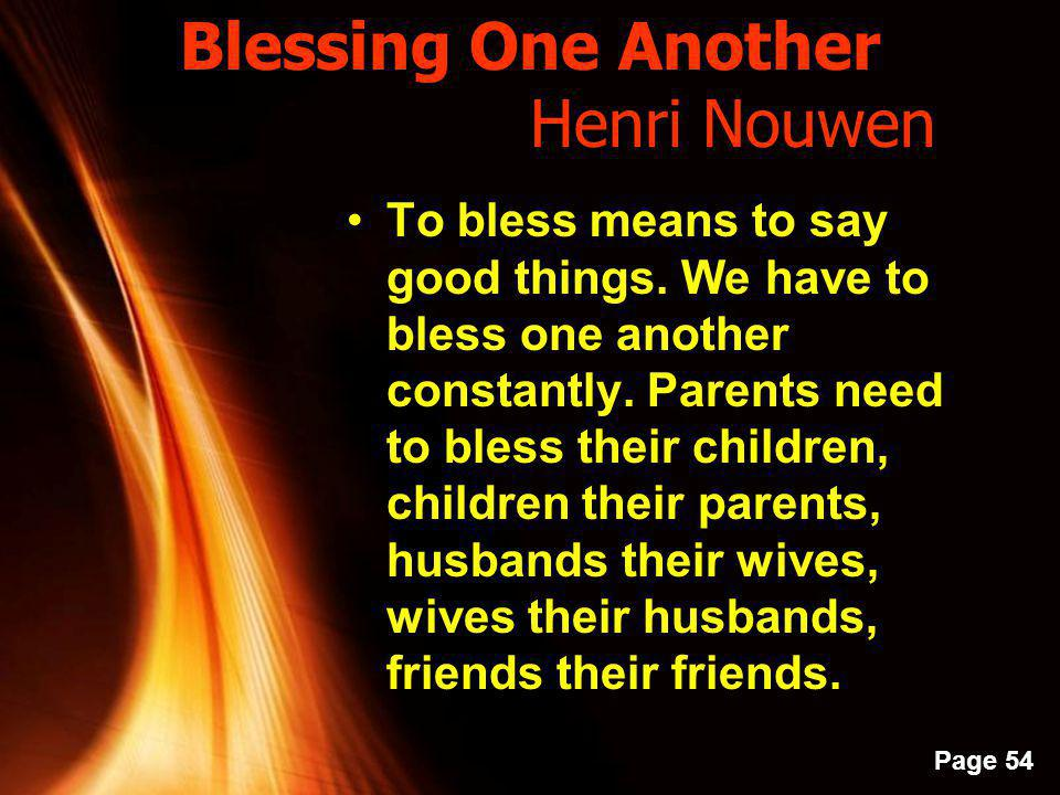 Blessing One Another Henri Nouwen