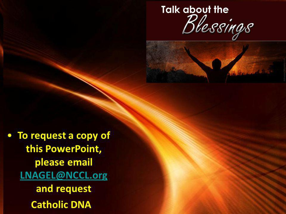 infusing catholic identity in one's dna - ppt download, Powerpoint templates