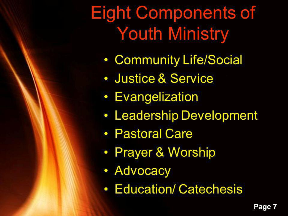 Eight Components of Youth Ministry