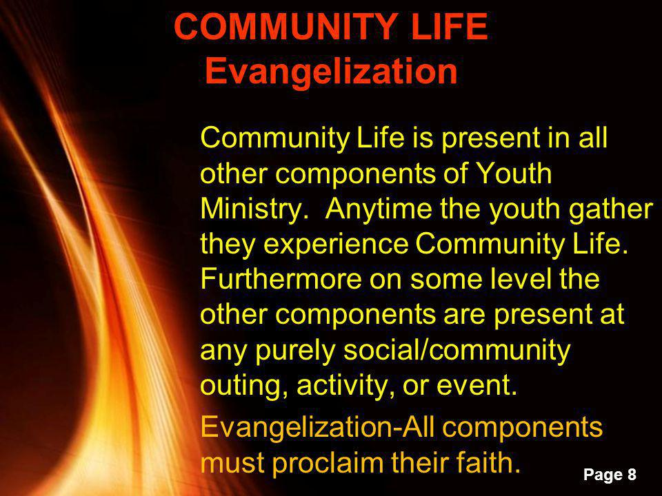 COMMUNITY LIFE Evangelization