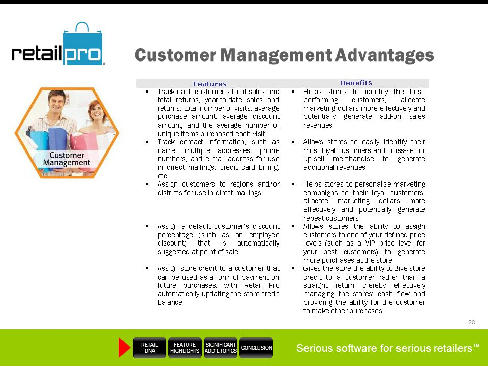 Customer Management Advantages