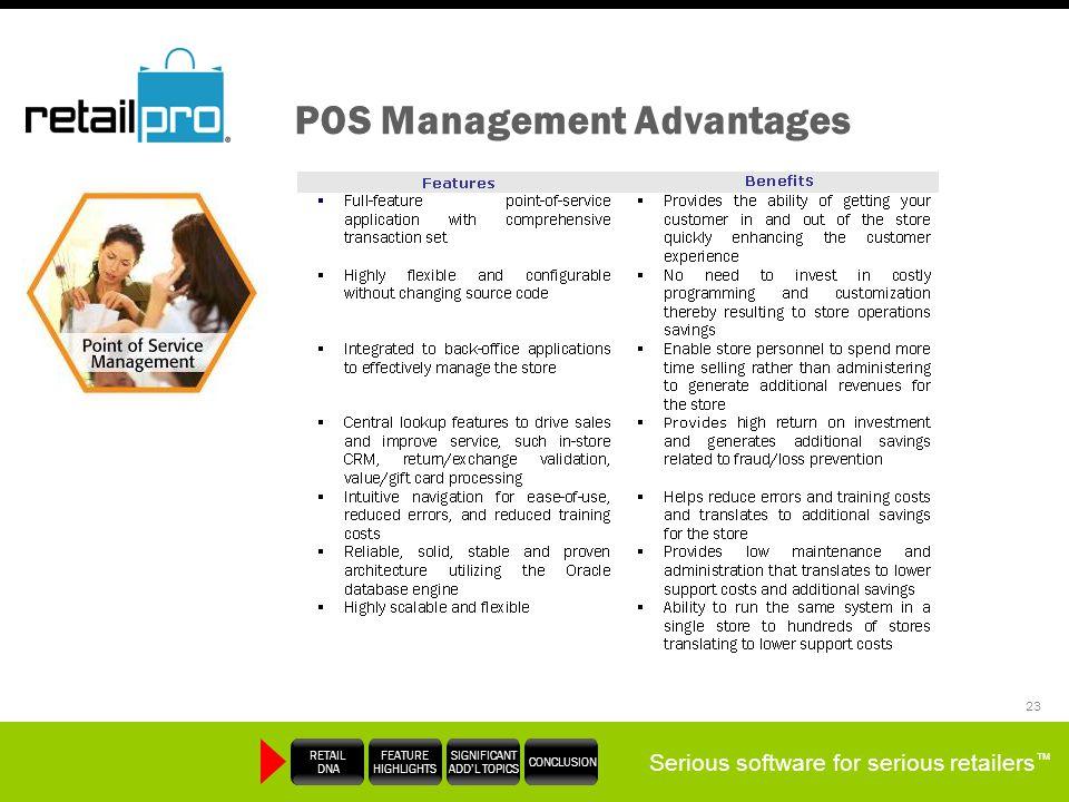 POS Management Advantages