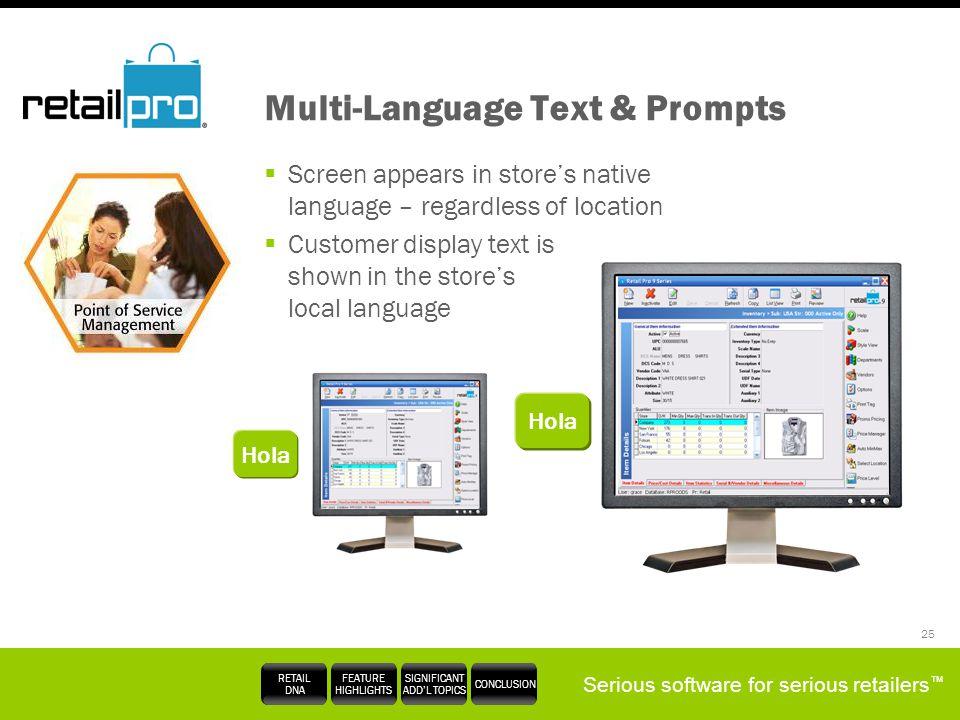 Multi-Language Text & Prompts