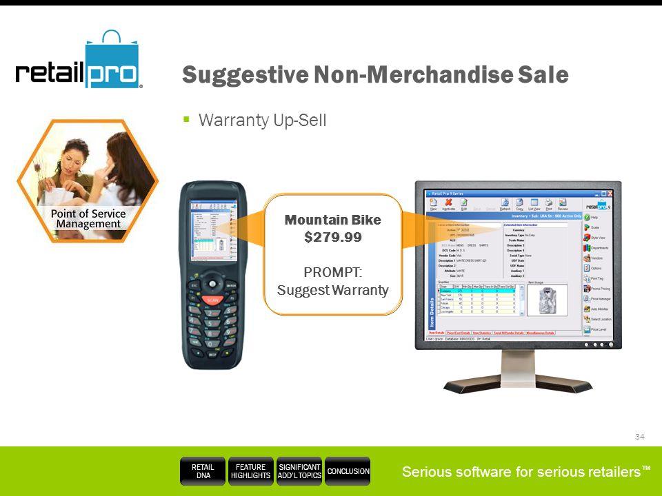 Suggestive Non-Merchandise Sale