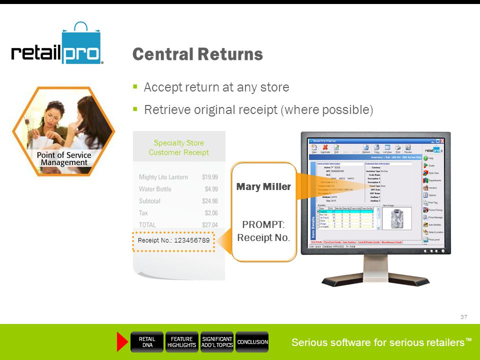 Central Returns Accept return at any store