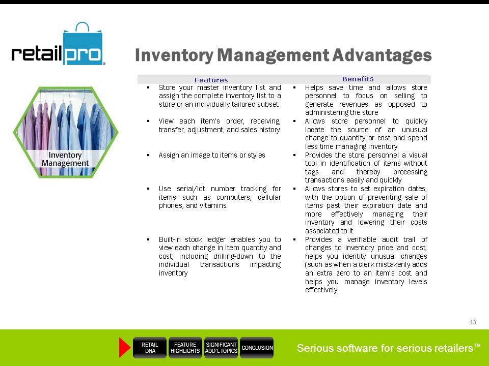 Inventory Management Advantages