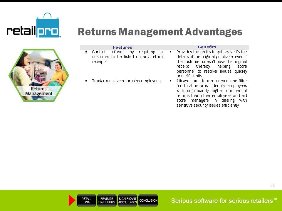 Returns Management Advantages