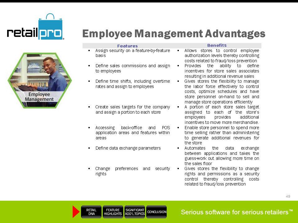 Employee Management Advantages