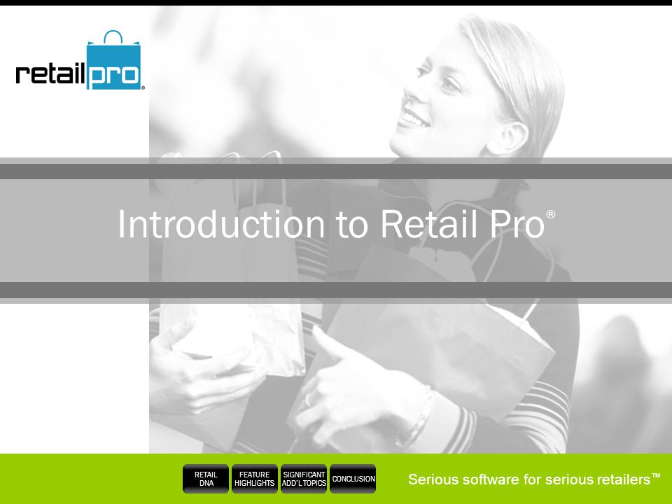 Introduction to Retail Pro®
