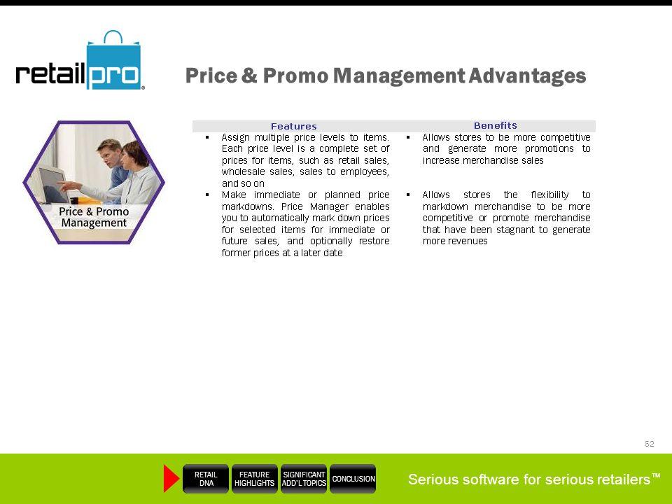 Price & Promo Management Advantages