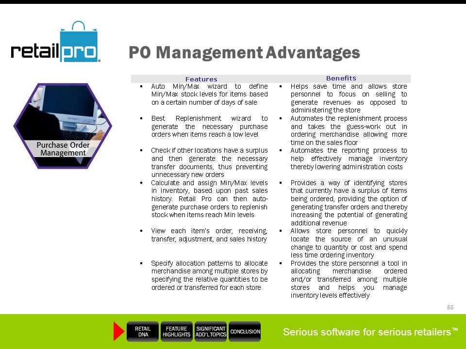 PO Management Advantages