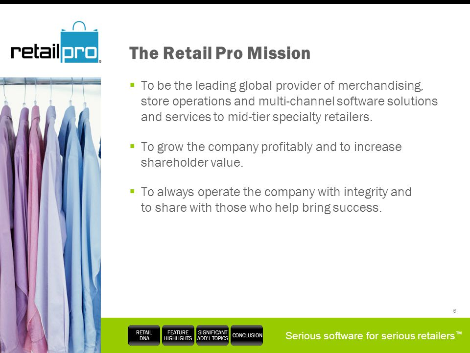 The Retail Pro Mission