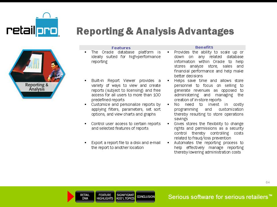 Reporting & Analysis Advantages