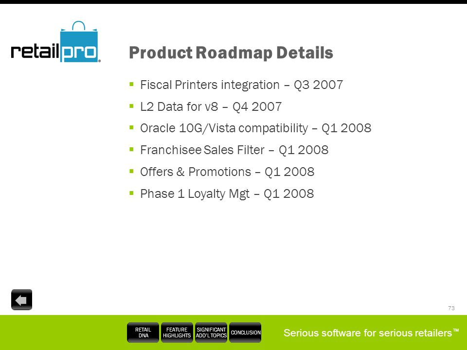 Product Roadmap Details