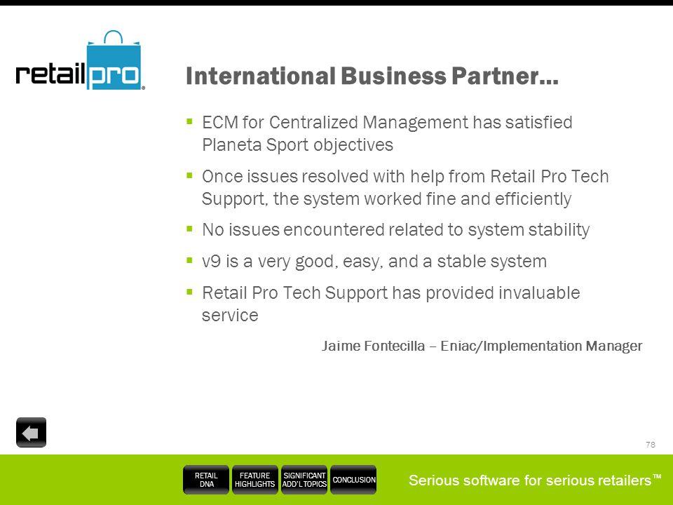 International Business Partner…