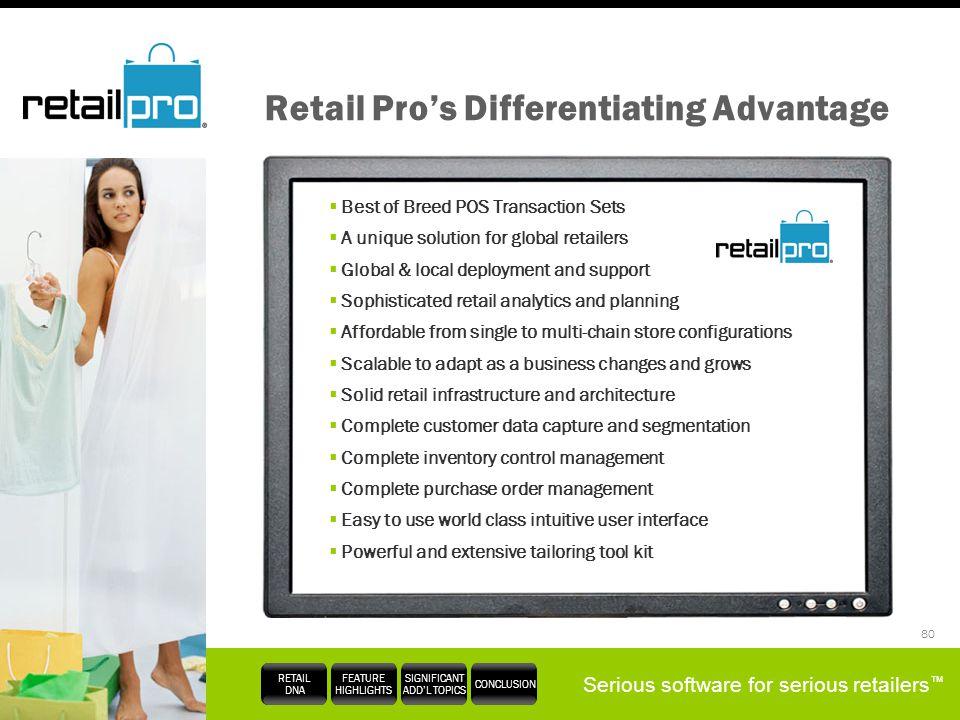 Retail Pro's Differentiating Advantage