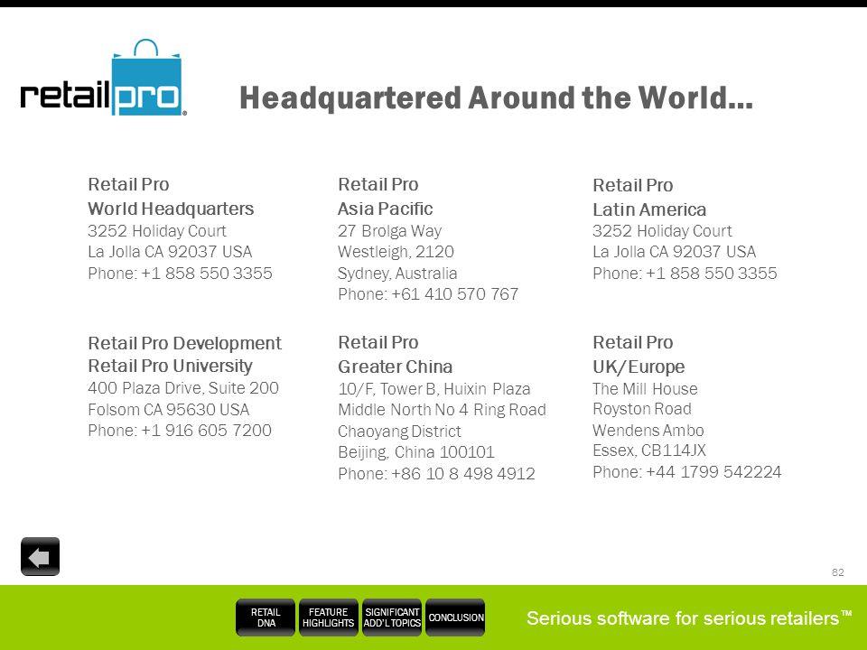 Headquartered Around the World…