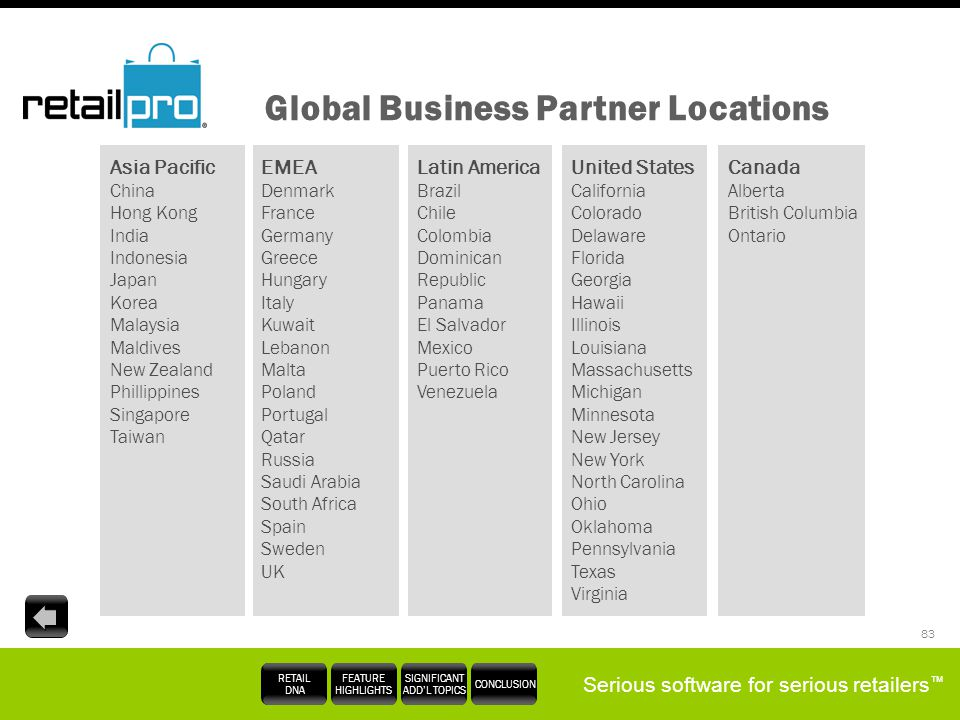 Global Business Partner Locations