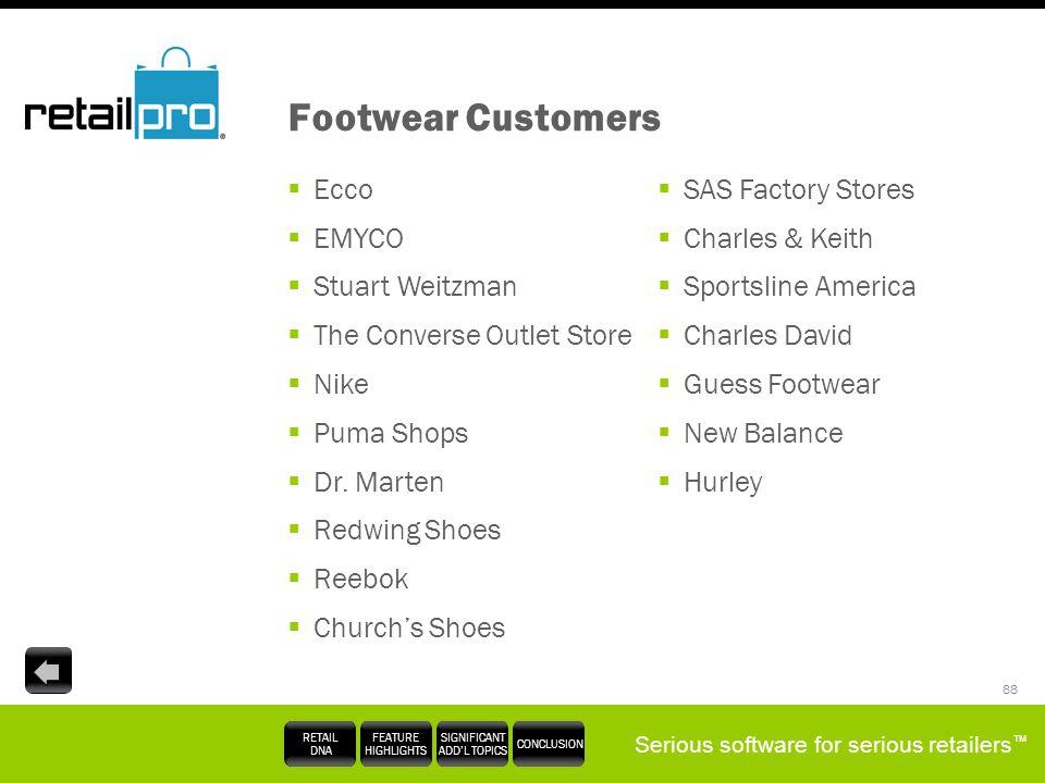 Footwear Customers Ecco EMYCO Stuart Weitzman