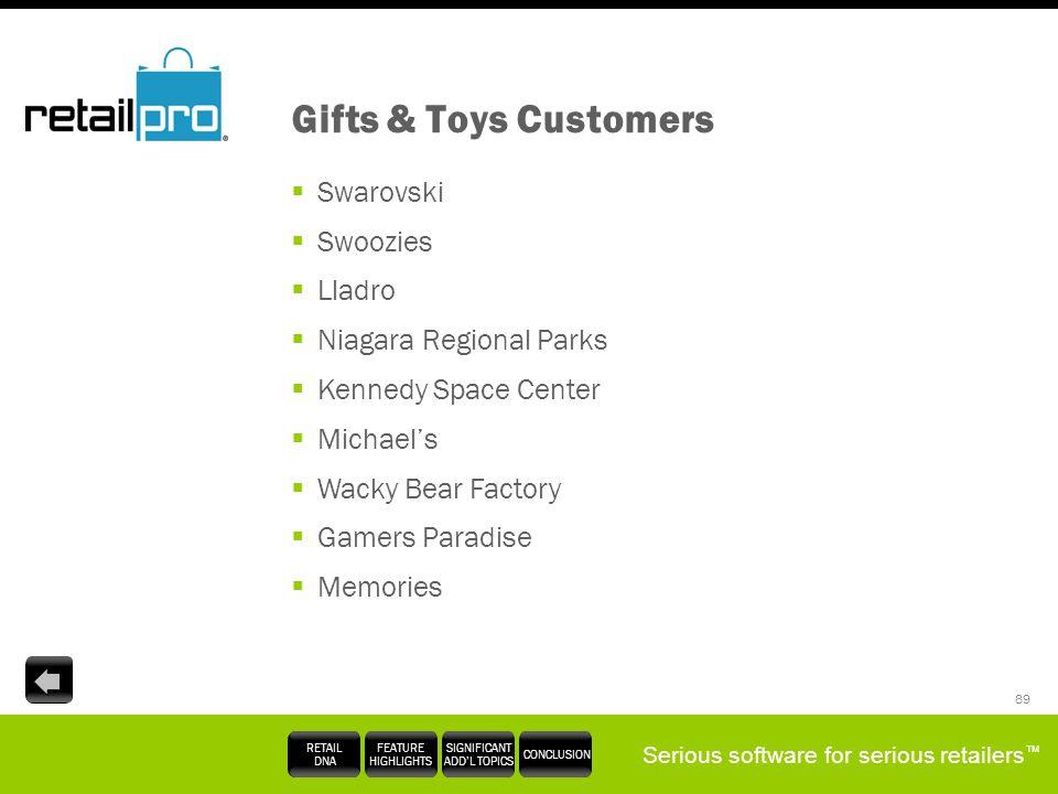 Gifts & Toys Customers Swarovski Swoozies Lladro