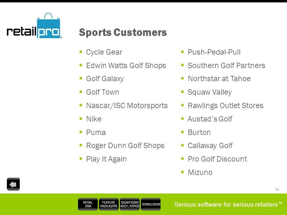 Sports Customers Cycle Gear Edwin Watts Golf Shops Golf Galaxy