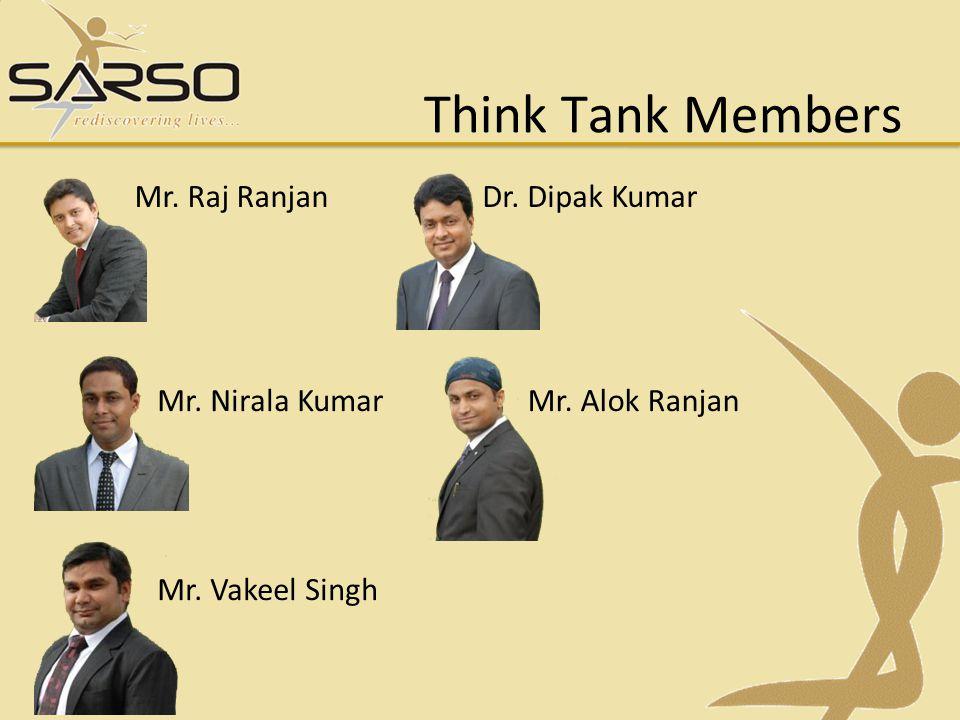 Think Tank Members Mr. Raj Ranjan Dr. Dipak Kumar Mr. Nirala Kumar